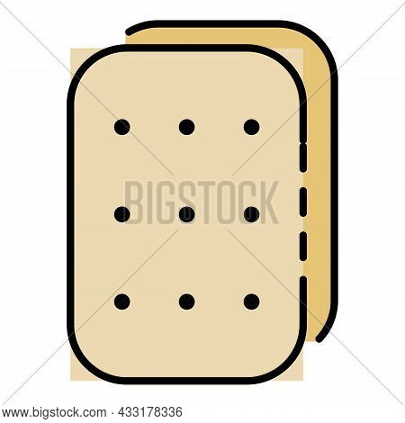 Crackers Icon. Outline Crackers Vector Icon Color Flat Isolated On White