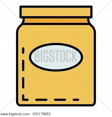Premium Honey Jar Icon. Outline Premium Honey Jar Vector Icon Color Flat Isolated On White