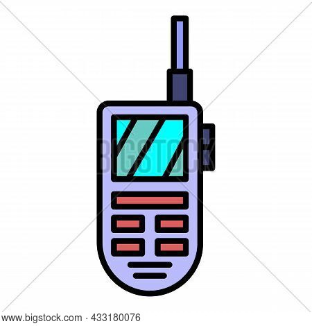 Talkie Walkie Icon. Outline Talkie Walkie Vector Icon Color Flat Isolated On White