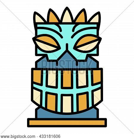 Exotic Idol Icon. Outline Exotic Idol Vector Icon Color Flat Isolated On White