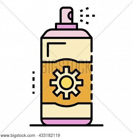 Sunscreen Spray Icon. Outline Sunscreen Spray Vector Icon Color Flat Isolated On White