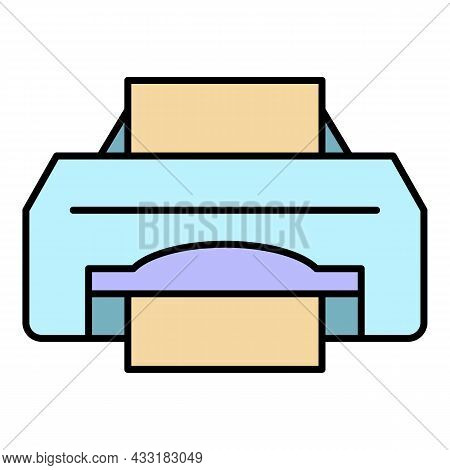 Ink Jet Printer Icon. Outline Ink Jet Printer Vector Icon Color Flat Isolated On White