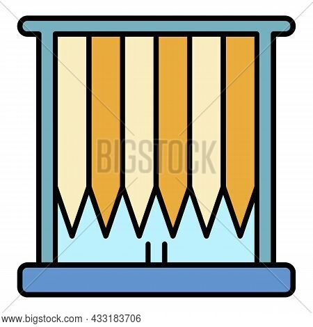 Vertical Louvers Icon. Outline Vertical Louvers Vector Icon Color Flat Isolated On White
