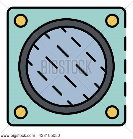 Wall Fan Hole Icon. Outline Wall Fan Hole Vector Icon Color Flat Isolated On White