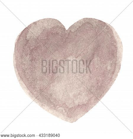 Heart Shape Watercolor Grey For Sticker And Clip Art, Grey Watercolor Heart Shape Hand Drawn Art