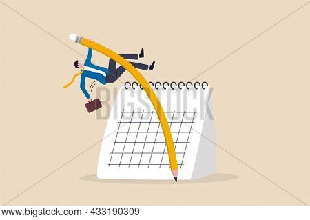 Flexible Work Schedule Or Challenge To Overcome Deadline Or Project Timeline Difficulty, Project Man