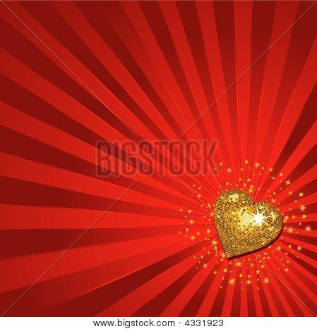 Gold Valentine Heart Background