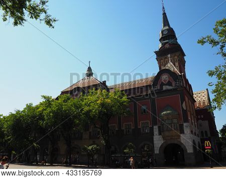 Subotica, Serbia, September 12, 2021 City Hall Of Subotica Szabadka In Hungarian Art Nouveau Style,