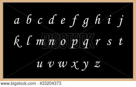 Alphabet A To Z Big Letters Black Board Backgrounds With A To Z All Small Letters Kids Learning To A