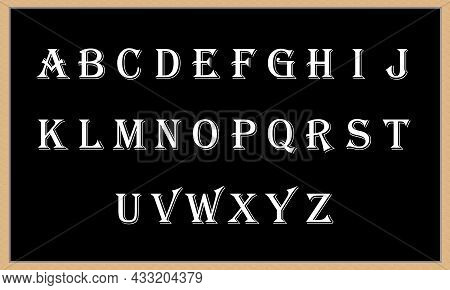 Alphabet A To Z Big Letters Black Board Backgrounds With A To Z All Capital Letters Kids Learning To