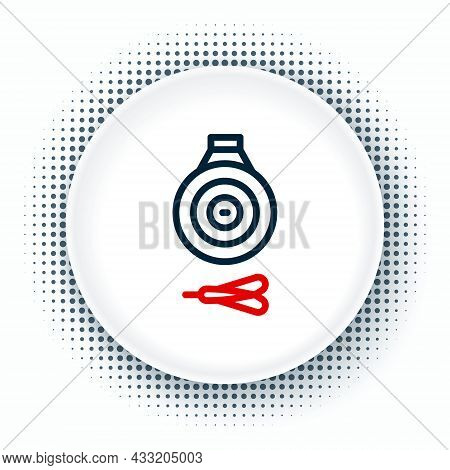 Line Classic Dart Board And Arrow Icon Isolated On White Background. Dartboard Sign. Game Concept. C