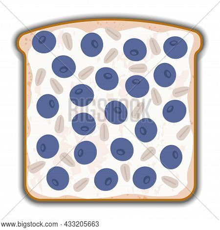 Blueberry And Cottage Cheese Sandwich With Shadow