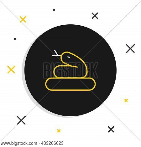 Line Snake Icon Isolated On White Background. Colorful Outline Concept. Vector