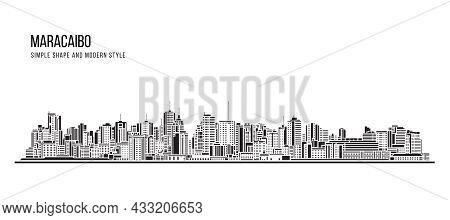 Cityscape Building Abstract Simple Shape And Modern Style Art Vector Design - Maracaibo City