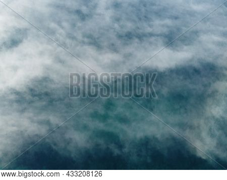 Abstract Aerial Nature Summer Ocean Sunset Sea And Sky Background. Natural Sky Composition. Element