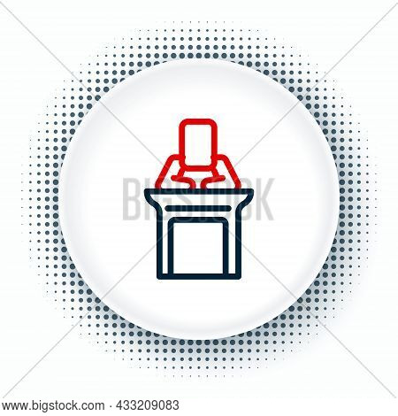 Line Judge Icon Isolated On White Background. Colorful Outline Concept. Vector
