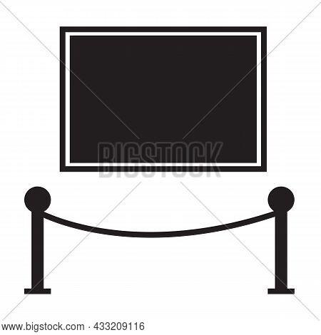 Gallery Icon On White Background. Art Museum Icon Logo. Exhibition Symbol. Flat Style.