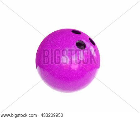 3d Render Bowling Ball On White Background