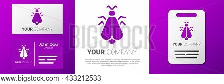 Logotype Mosquito Icon Isolated On White Background. Logo Design Template Element. Vector