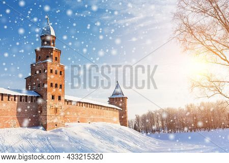 Winter Landscape View Of Novgorod The Great In Russia