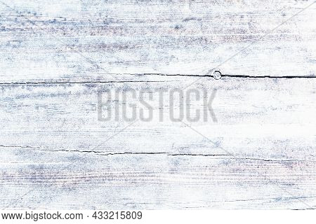 White Wooden Table Top Texture Background. Vintage Wooden Floor Top Background, Close Up.