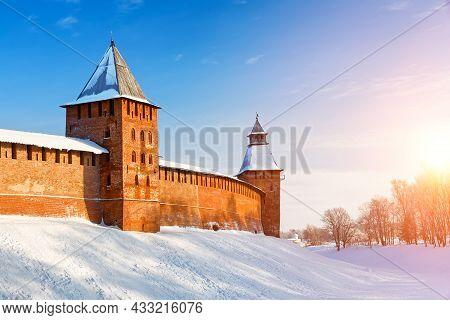 Winter Landscape Of Novgorod The Great.