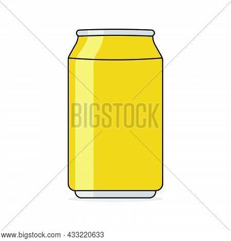 Cartoon Soda In Aluminum Can Vector Illustration
