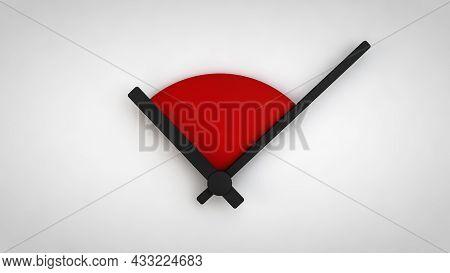 3d Rendering 3d Illustration Of Minimal Clock 10 O Clock Black And White 3d Rendering