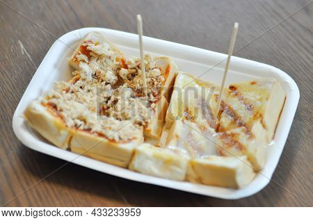 Toast With Butter And Dried Pork, Bread