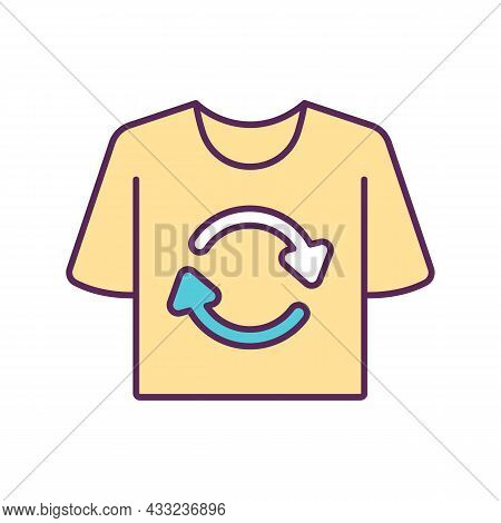Recycle Clothing Rgb Color Icon. Reuse An Reprocess Old Wear. Sustainable Consumption. Ecological Ap