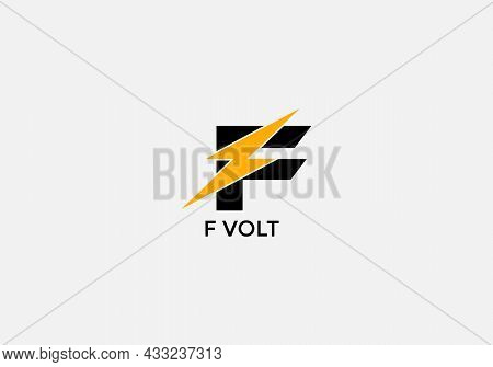 F Volt Abstract F Letter Modern Initial Tech Logo Design
