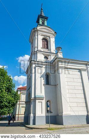 Radom, Poland - June 7, 2021: Evangelical-augsburg Church In Radom.