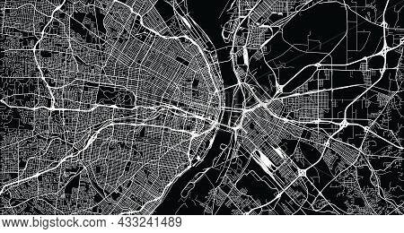Urban Vector City Map Of St Louis, California , United States Of America