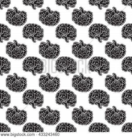 Genius Brain Pattern Seamless Background Texture Repeat Wallpaper Geometric Vector
