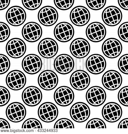 Globe Pattern Seamless Background Texture Repeat Wallpaper Geometric Vector