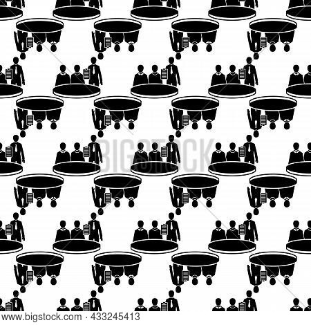 Political Meeting Pattern Seamless Background Texture Repeat Wallpaper Geometric Vector