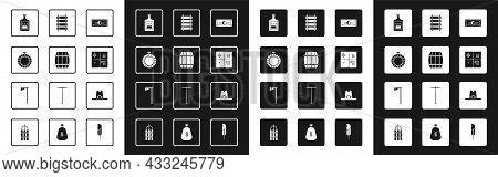 Set Stacks Paper Money Cash, Wooden Barrel, Canteen Water Bottle, Whiskey, Treasure Map, Railway, Ra