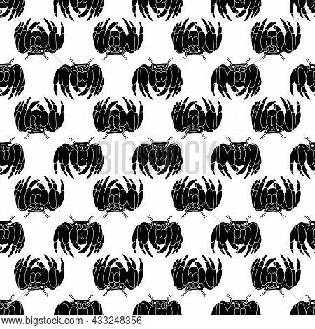 Spooky Spider Pattern Seamless Background Texture Repeat Wallpaper Geometric Vector