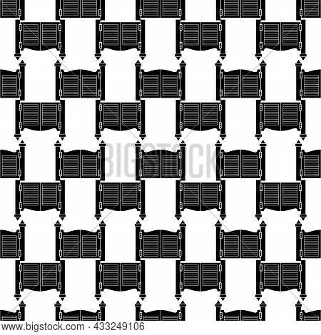 Saloon Doors Pattern Seamless Background Texture Repeat Wallpaper Geometric Vector