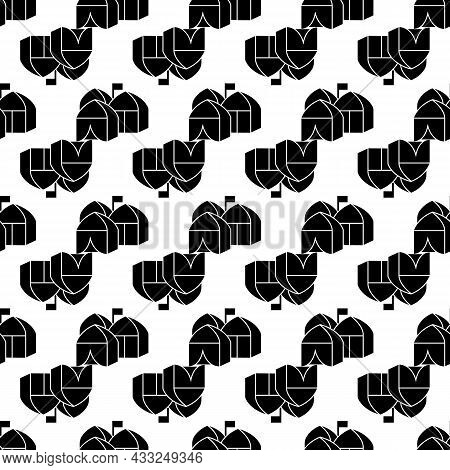 Refugee Tent City Pattern Seamless Background Texture Repeat Wallpaper Geometric Vector
