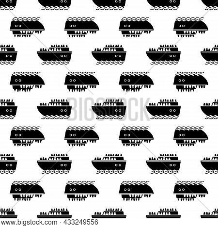 Migrant Ship Pattern Seamless Background Texture Repeat Wallpaper Geometric Vector
