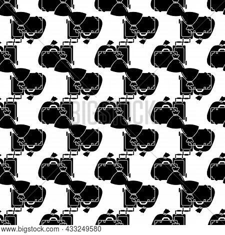 Migrant Refugee Bags Pattern Seamless Background Texture Repeat Wallpaper Geometric Vector