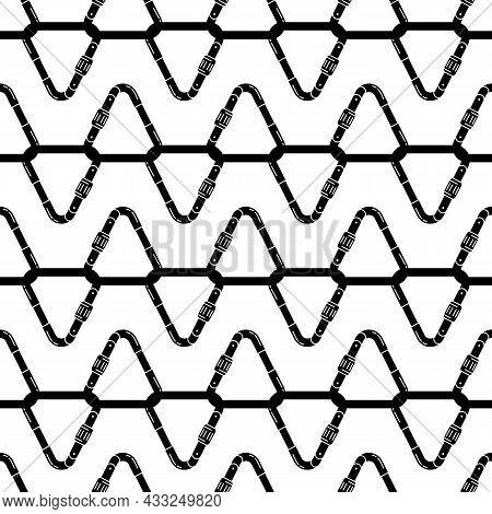 Triangular Carabine Pattern Seamless Background Texture Repeat Wallpaper Geometric Vector
