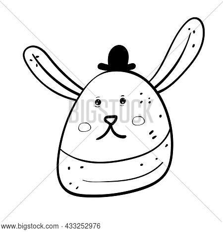Cute Hare Or Rabbit Cartoon Coloring Vector Illustration