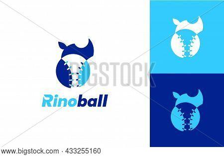 Rhino Ball Logo Design Vector Design Concept