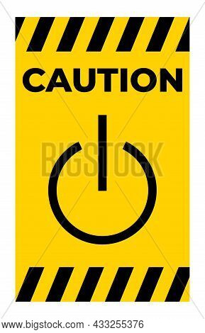 Stand-by Symbol Sign, Vector Illustration, Isolate On White Background Label. Eps10