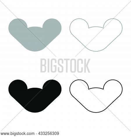 Wing Nuts Butterfly Hand Tightening Female Screw Hardware Set Icon Grey Black Color Vector Illustrat