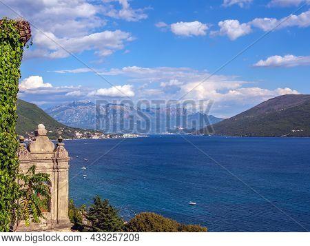 View To Mediterranean Sea Bay. Seascape. Sea And Mountains.