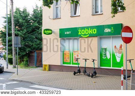 Miedzyzdroje, Poland -05.09.2021 - Grocery Store Of The Zabka Chain In Miedzyzdroje