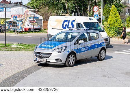 Miedzyzdroje, Poland -06.09.2021 - Police Car In Miedzyzdroje